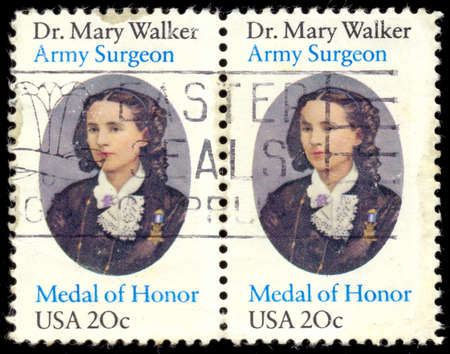 congressional: UNITED STATES OF AMERICA - CIRCA 1982: stamp printed in USA shows Mary Walker, circa 1982 Editorial