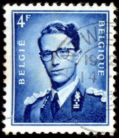 baudouin: BELGIUM - CIRCA 1966: A stamp printed in Belgium shows portrait King Baudouin (1930-1993), circa 1966