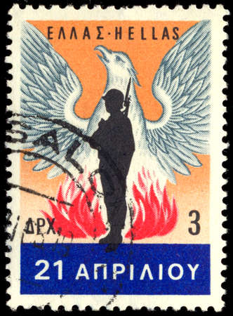 GREECE - CIRCA 1967: A stamp printed in Greece , from the