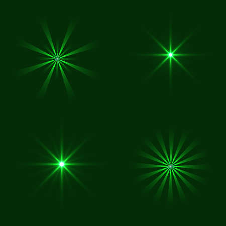 Set of Vector glowing light effect stars bursts. Transparent stars.