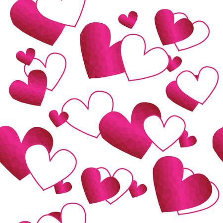 Heart on white background. Seamless pattern. Vector illustration. Illustration