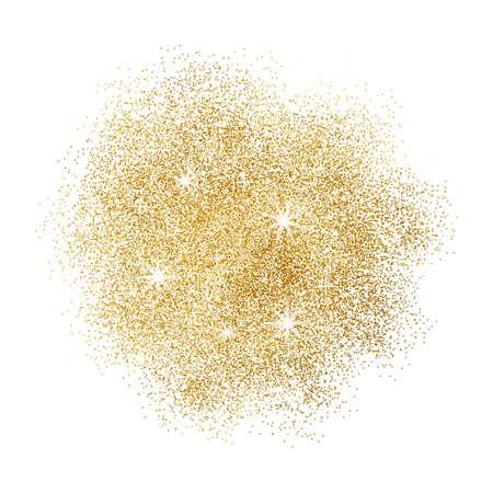 burst background: Gold glitter splash on white background. Vector illustration.