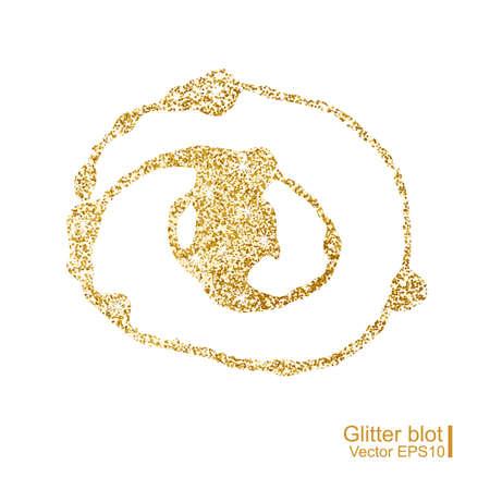 blot: Gold glitter blot. Vector illustration. Illustration