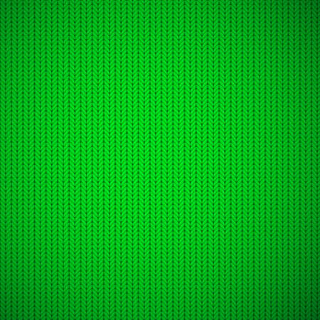 heather: Green knitted texture background. Vector illustration.