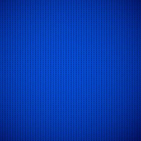 heather: Blue knitted texture background. Vector illustration. Illustration