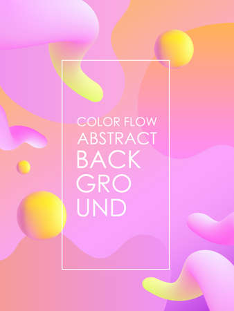 Color flow abstract background. Dinamic colorful shapes.