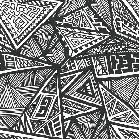 Perfect abstract seamless pattern. Hand drawn geometric composition. Vector