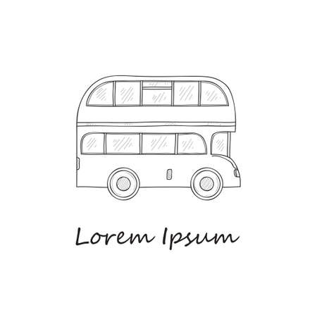 london bus: Composition with London bus. Vector