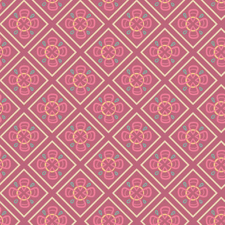 Seamless pattern with abstract geomitric elements. Bright vector backgraund