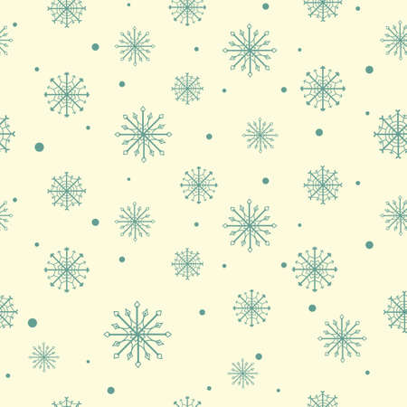 Christmas pattern with snowflakes  Seamless pattern can be used for wallpaper, pattern fills, web page backgrounds, surface textures