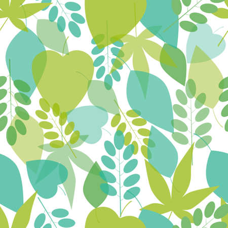 autumn grunge: Seamless bright leaves pattern  Vector