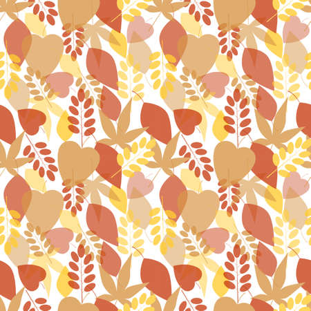 Seamless bright leaves pattern  Vector Vector