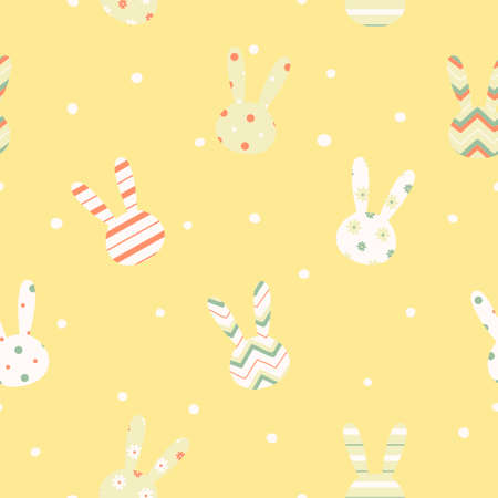 Simple cute easter pattern with rabbits  Endless texture can be used for printing onto fabric and paper or scrap booking