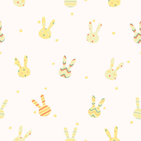 Simple cute easter pattern with rabbits  Endless texture can be used for printing onto fabric and paper or scrap booking  Vector
