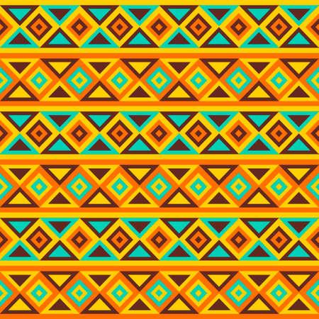 Bunte einfache nahtlose Vektor-Muster Tribal ethnischen geometrischen Streifenmuster Traditionelle Ornament