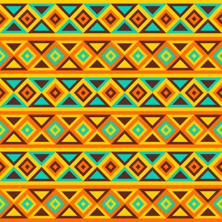 african tribe: Colorful simple seamless vector pattern  Tribal ethnic geometric striped pattern  Traditional ornament