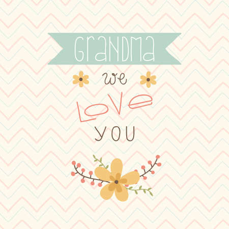 Happy mothers day card  Card for Grandma  Grandma we love you Vector