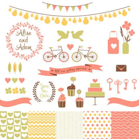 just: Set for wedding design   Love elements for your design Illustration