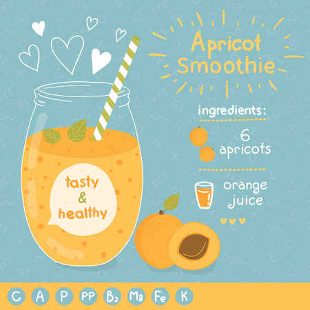 fruit smoothie: Apricot smoothie recipe.