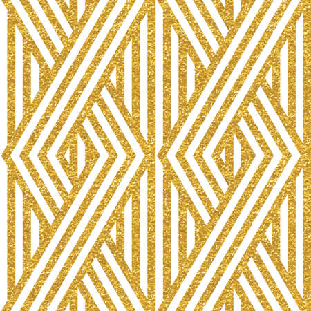 the trendy: Geometric striped ornament. Vector gold seamless patterns. Modern stylish texture. Gold linear braids. Trendy gold glitter texture Illustration