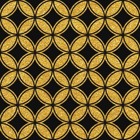 braids: Geometric striped ornament. Vector gold seamless patterns. Modern stylish texture. Gold linear braids. Trendy gold glitter texture Illustration