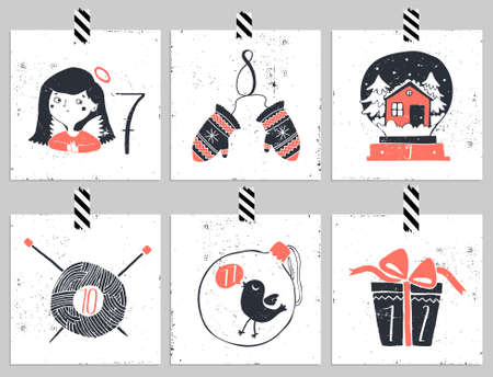 twelve: Advent calendar.Six days of christmas. One of the four parts of the calendar. Look in my portfolio.
