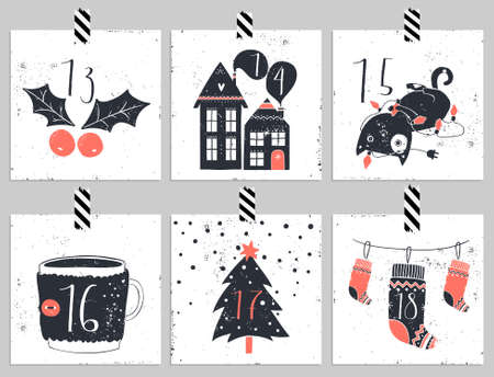 advent: Advent calendar.Six days of christmas. One of the four parts of the calendar. Look in my portfolio.