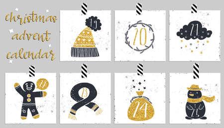 advent calendar: Advent calendar.Six days of christmas. One of the four parts of the calendar. Look in my portfolio.