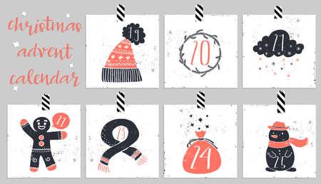 december calendar: Advent calendar.Six days of christmas. One of the four parts of the calendar. Look in my portfolio.
