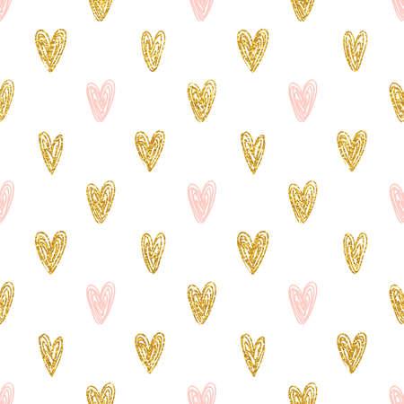 Polka dot pattern senza soluzione di continuità il cuore d'oro