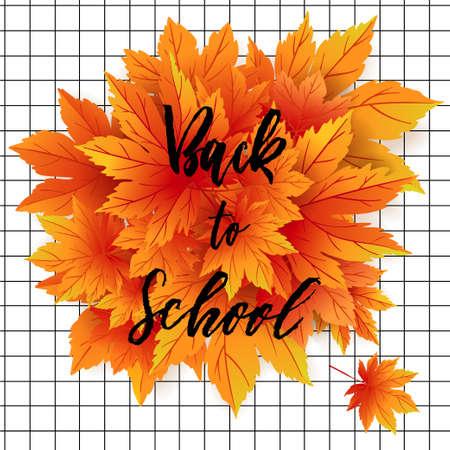 Back to school. Poster, card, label, design.
