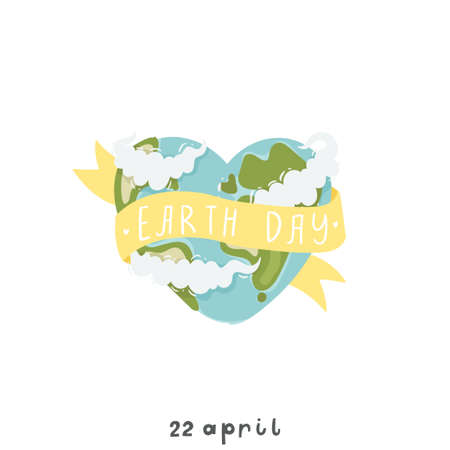 Happy Earth day poster template vector illustration