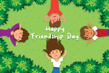 Happy Friendship Day poster design vector illustration