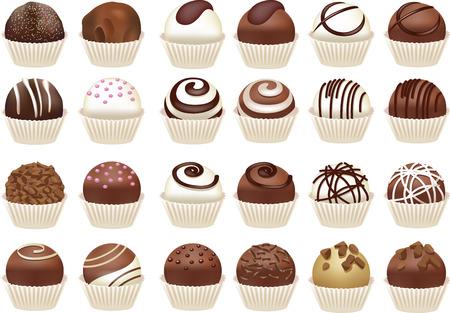 Set of chocolate candies