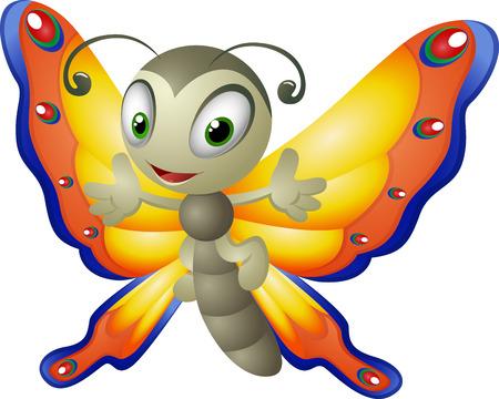 cartoon mariposa: Caricatura de mariposa Vectores