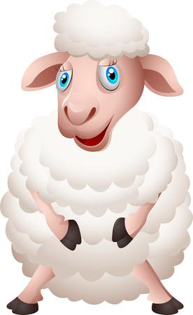 mouton cartoon: Cartoon moutons Illustration