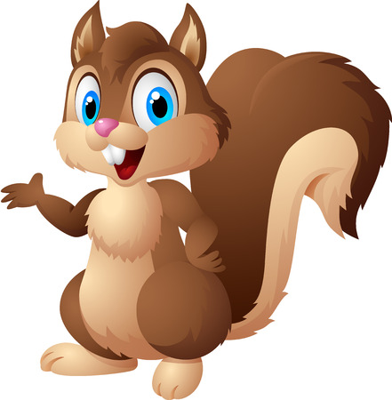 Cartoon squirrel 일러스트