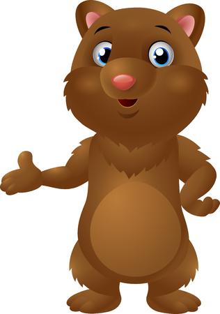 Cute baby brown bear