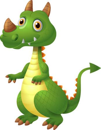 green dragon: Illustration of green dragon