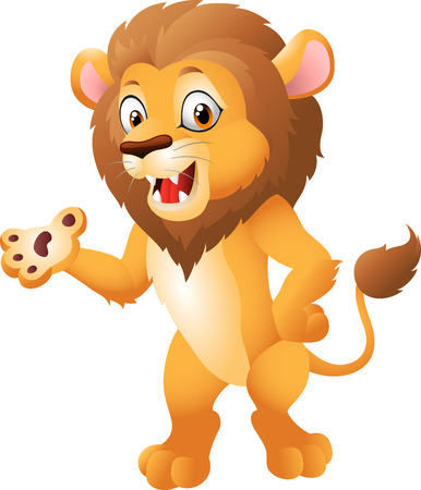 whisker characters: Cartoon lion