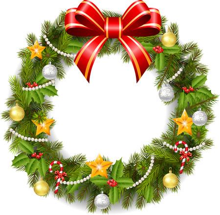 adventskranz: Traditionelle gr�ne Weihnachtsdekoration