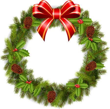 advent wreath: Decoraci�n tradicional de Navidad verde