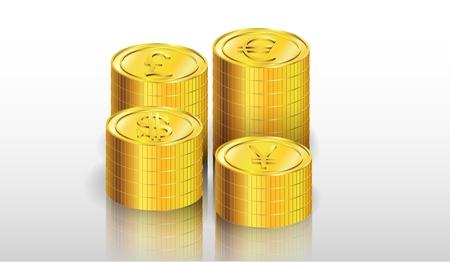 thrift: Ilustraci�n de la moneda de oro