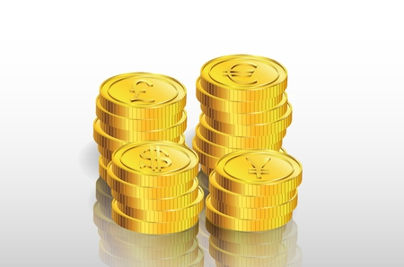 gold coin: Illustration of stack of gold coin Illustration