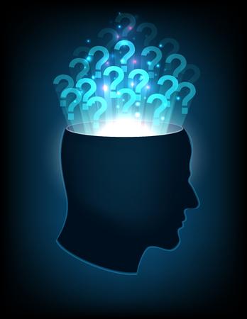 의식: head of the human mind, consciousness, imagination, science and creativity