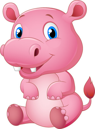 hipopotamo caricatura: De dibujos animados hipop�tamo feliz
