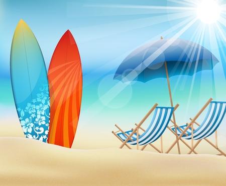 Summertime  イラスト・ベクター素材