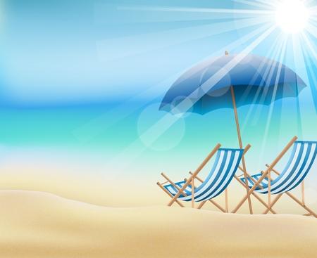Daytime summer background on beach