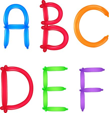 kiddie: Colorful of alphabet Illustration