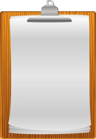 clip board: Clip board with paper blank